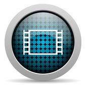 Movie glossy icon — Stock Photo