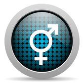 Sex glossy icon — Stock Photo
