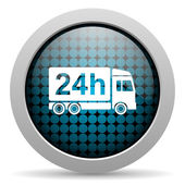 Delivery 24h glossy icon — Stock Photo