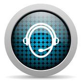 Customer service glossy icon — Stock Photo