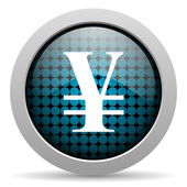 Yen glossy icon — Stock Photo