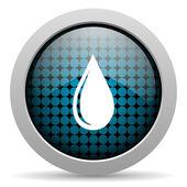 Su damla parlak simgesi — Stok fotoğraf