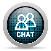 Chat glossy icon — Stock Photo