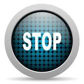 Stop glossy icon — Stock Photo