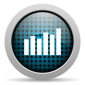 Bar graph glossy icon — Stock Photo