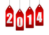 2014 new year illustration — Stock Photo