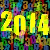 2014 new year illustration with numbers — Stock Photo
