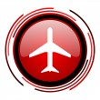 airplane icon — Stock Photo