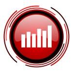 Bar graph icon — Stock Photo #25405891