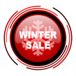 Stock Photo: Winter sale icon