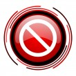 Stock Photo: Access denied icon
