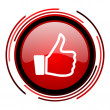 Stockfoto: Thumb up icon