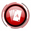 Stock Photo: Playing cards icon