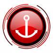 Anchor icon - Stock Photo