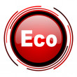 Eco icon - Stock Photo
