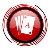 Playing cards icon — Stock Photo