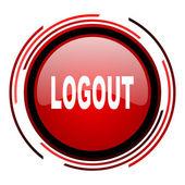 Logout-symbol — Stockfoto