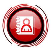 Address book icon — Stock Photo