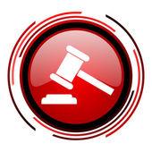 Law icon — Stock Photo
