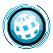 Stock Photo: Earth blue circle glossy icon