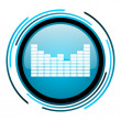 Stock Photo: Sound blue circle glossy icon