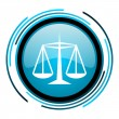 Stock Photo: Justice blue circle glossy icon