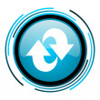 Stock Photo: Rotate blue circle glossy icon