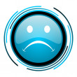 Stock Photo: Cry blue circle glossy icon