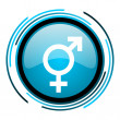 Stock Photo: Sex blue circle glossy icon