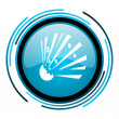 Bomb blue circle glossy icon — Stock Photo #25596085