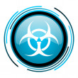 Virus blue circle glossy icon — Stock Photo #25596141
