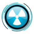 Stock Photo: Radiation blue circle glossy icon