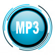 Stock Photo: Mp3 blue circle glossy icon