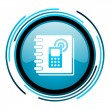 Stock Photo: Phonebook blue circle glossy icon