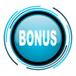 Bonus blue circle glossy icon — Stock Photo
