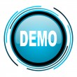 Stock Photo: Demo blue circle glossy icon