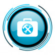 Stock Photo: Toolkit blue circle glossy icon