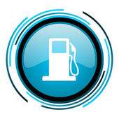 Fuel blue circle glossy icon — Stock Photo