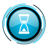Time blue circle glossy icon — Stock Photo