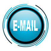 Mail blue circle glossy icon — Stock Photo