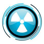 Radiation blue circle glossy icon — Stock Photo