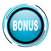 Bonus blue circle glossy icon — Stock Photo