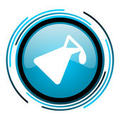 Chemistry blue circle glossy icon — Stock Photo