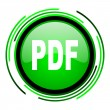 Pdf green circle glossy icon — Stock Photo