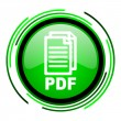 Stock Photo: Pdf green circle glossy icon