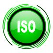 Stock Photo: Iso green circle glossy icon