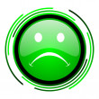 Stock Photo: Cry green circle glossy icon