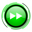Scroll green circle glossy icon — Stock Photo