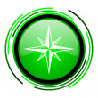 Compass green circle glossy icon — Stock Photo #25644533
