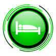 Hotel green circle glossy icon — Stock Photo